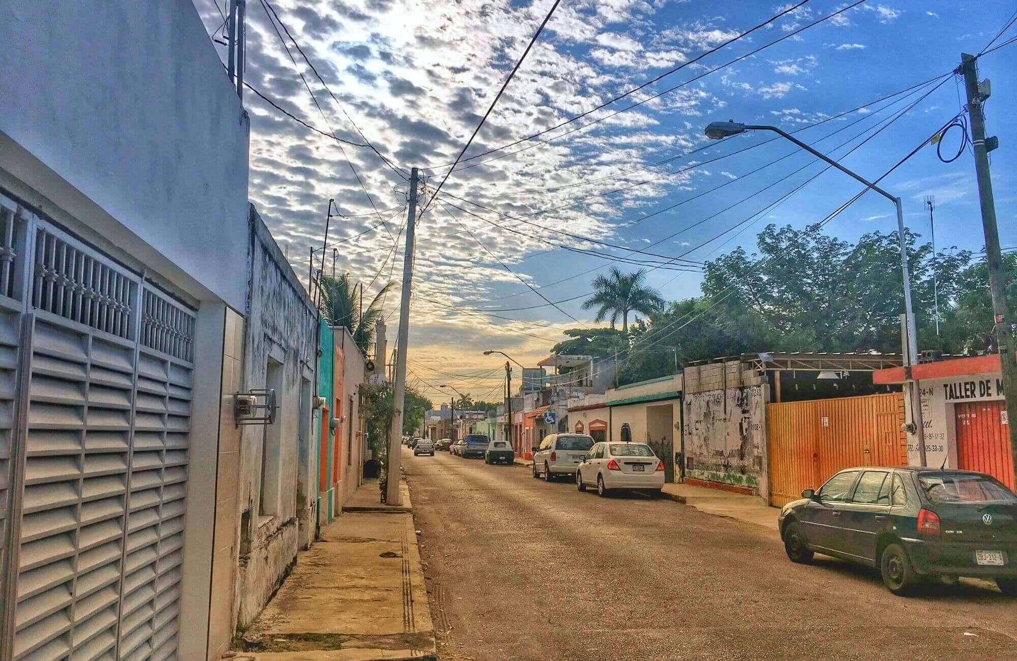 street in centro merida mexico