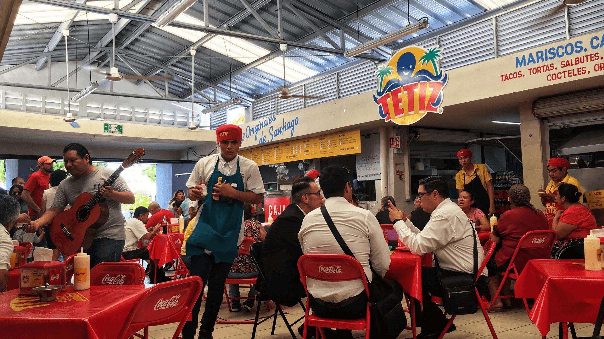 tetiz mariscos restaurant in santiago park merida mexico