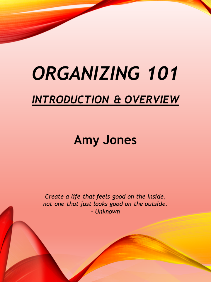 Download: Organizing 101 Introduction & Overview